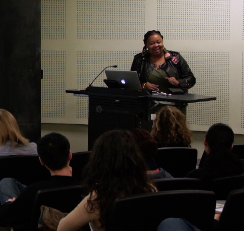 Antionette Carroll speaking at DSI's Global Guest Lecture series